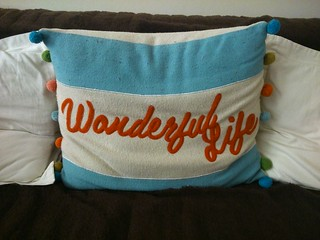 Wonderful Life - cushion at Taffs Well Cottage | by ell brown