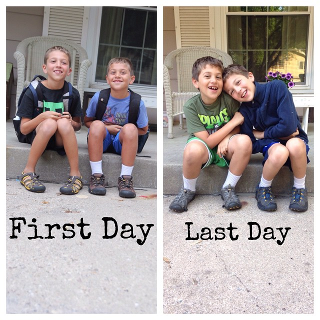First and Last Day of 4th and 2nd grade for the Bostinelos Bros! #bostinelosbros