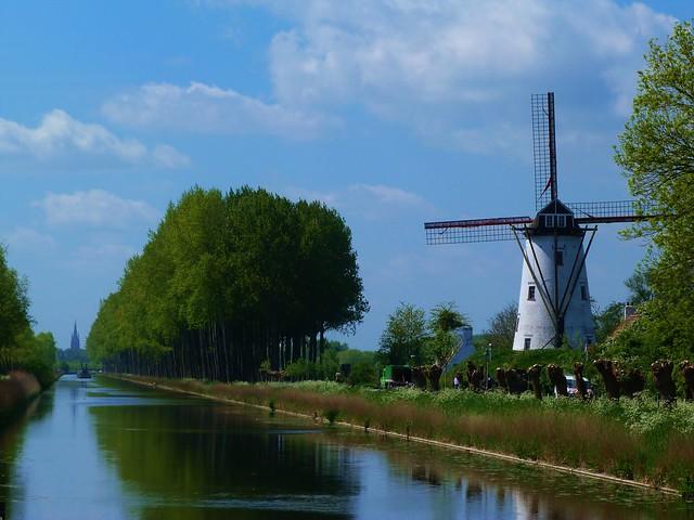 Postal de Damme (Flandes)