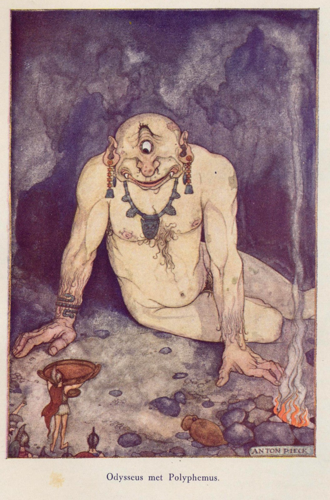 "Anton Pieck - Illustration of Odysseus from ""Heroes Of Mankind,"" 1941"