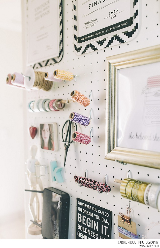 Create A Home Office Diy Pegboard In 7 Easy Steps Lovilee