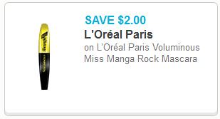 859b29bd341 Get a great deal on L'Oreal Paris Voluminous Miss Manga Rock Mascara at CVS  the week of 5/24/2014, when you can combine a sale, manufacturer's coupon,  ...