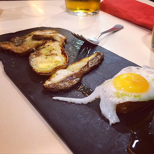 Ceps and a poached egg #sansebastian