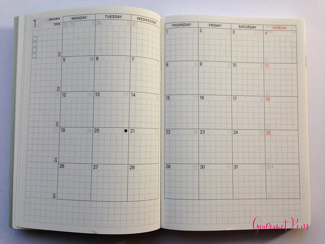 Review 2015 Hobonichi A6 Planner @TheJournalShop (12)
