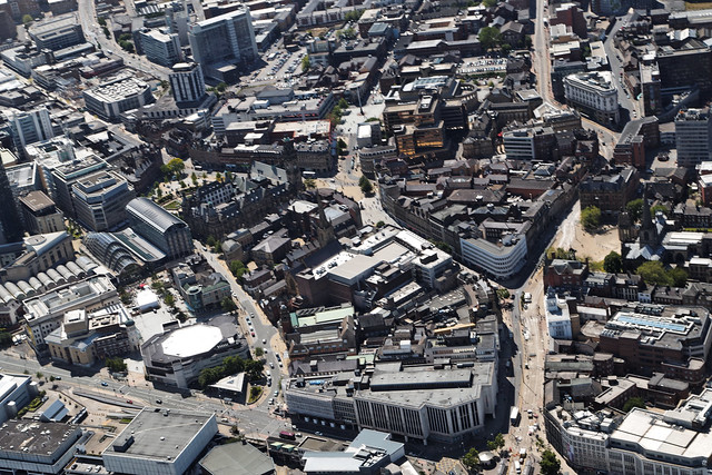Sheffield City Centre, from above