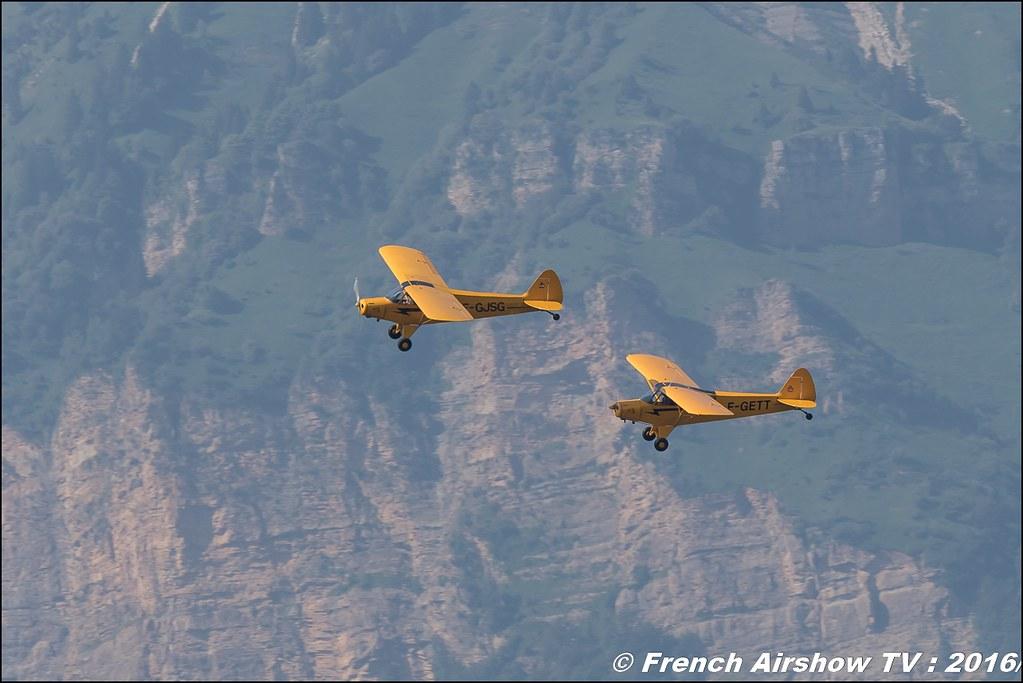 Yellow Piper Team ,ACHR , piper cub , F-GJSG , F-GETT , Grenoble Air show 2016 , Aerodrome du versoud , Aeroclub du dauphine, grenoble airshow 2016, Rhone Alpes