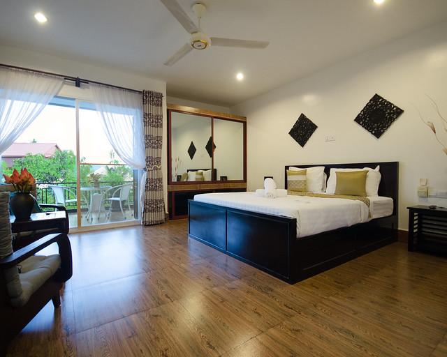 Habitación de nuestro hotel en Angkor Wat