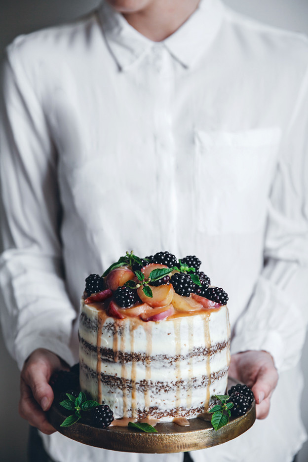 A Peach Carrot Cake With Cream Cheese Frosting A Saveur