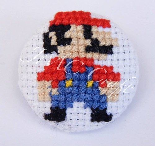 Geeky gaming cross-stitch by JMC Craft - Mario