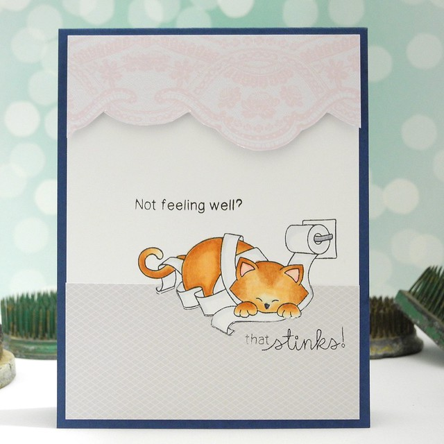 Not Feeling Well? by Jennifer Ingle #justjingle #newtonsnook #cats #cards #getwellsoon