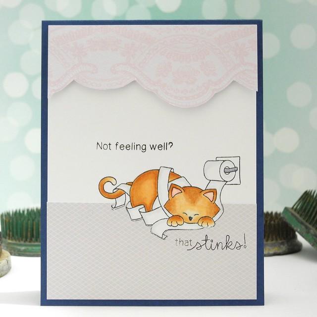 Not Feeling Well? by Jennifer Ingle #justjingle #newtonsnook #cats #cards #getwellsoon