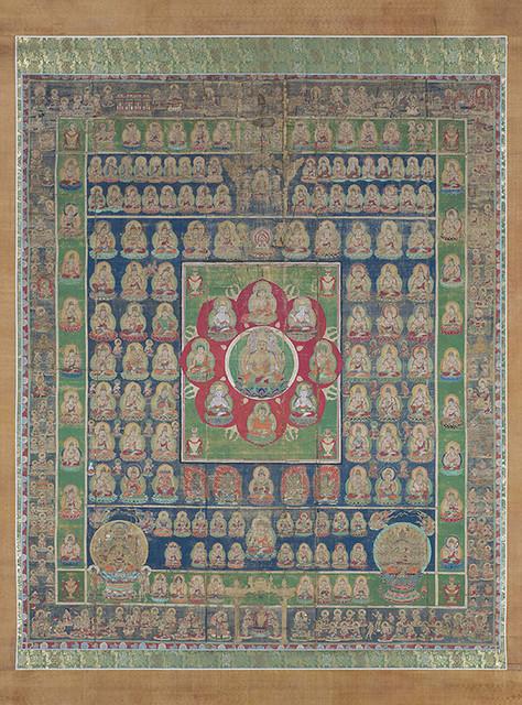 《両界曼荼羅》|鎌倉時代(14世紀)|双幅、絹本着色|各235.5×197.2 cm|所蔵:三室都寺、京都_2