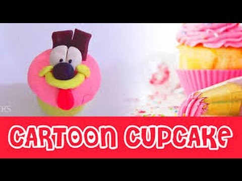 play doh clay modelling of cartoon themed cup cake with cl flickr