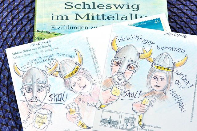 Schleswig - Ansichtskarten zeichnen - Wikingergrüße aus Haithabu - September 2016