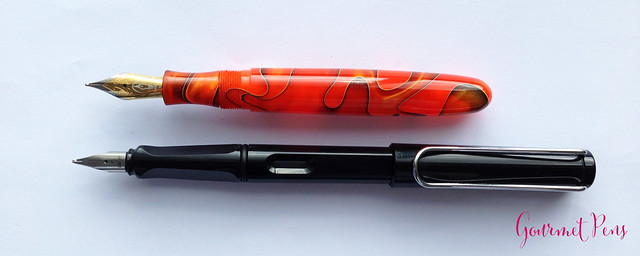 Review Edison Collier Persimmon Swirl Fountain Pen @EdisonPenCo @CouronneDuComte (9)