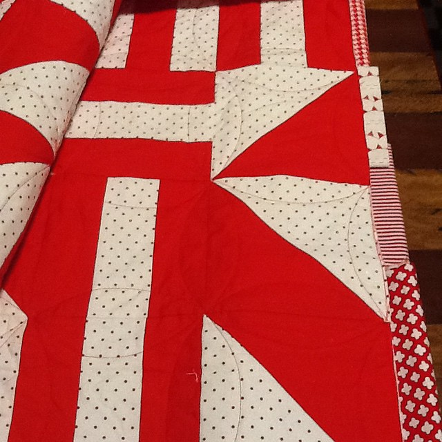 Yay quilted - now I hate the binding options I have. Anyone know where art gallery Red London solid is sold in Australia??