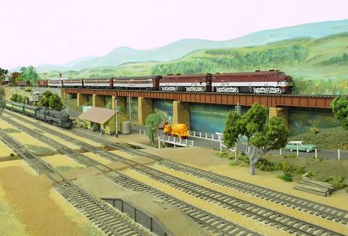 Diesel on viaduct
