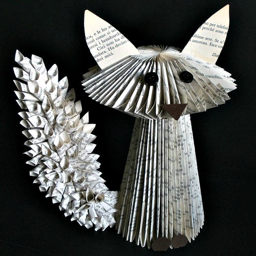 Fox Book Sculpture by Clara Maffei