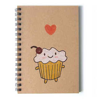 Cakeify hand-stamped notebook