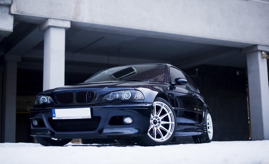 BMW M3 E46 | JR-11 18x9.5 + 18x10.5 Hyper Silver | JR-Wheels | Flickr