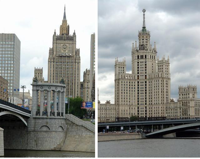 edificios soviéticos de moscú