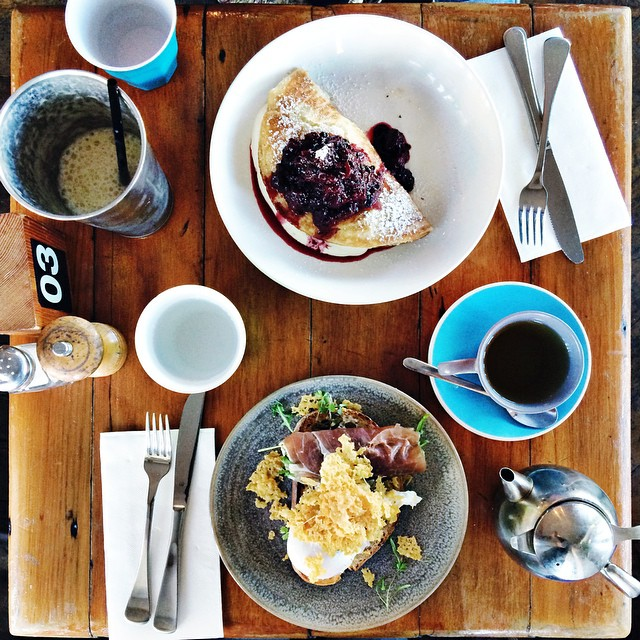 When you both work the weekend you go out for brunch on Tuesday, like a date ????  Brilliant breakfast for lunch at the new to us @thedepott - both shared because the only thing better than breakfast for lunch is two breakfasts at lunch. . . . #ea