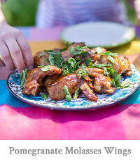 Pomegranate Molasses Chicken Wings