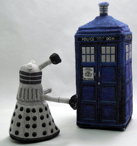 Doctor Who 3D cross stitch patterns by Robins Design - Dalek and TARDIS