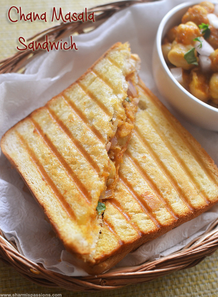 Grilled Chana Masala Sandwich Recipe