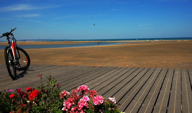 Beaches in May at Leucate in sud de France