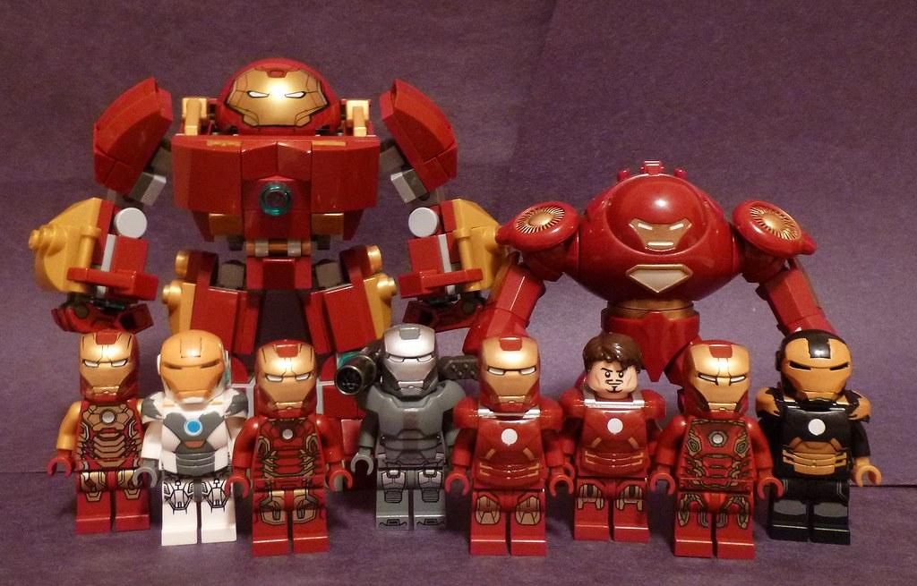 Lego Iron Man Mark 43 Iron Men | A groupshot...