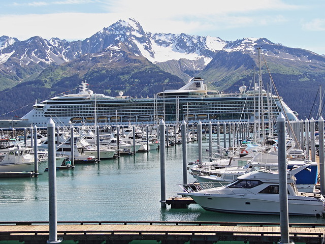 Radiance of the Seas at dock in Seward 20140620