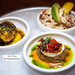 Crudo tasting - Ceviche Mixto, Salmon Brulee, Seared salmon with passion fruit & caviar