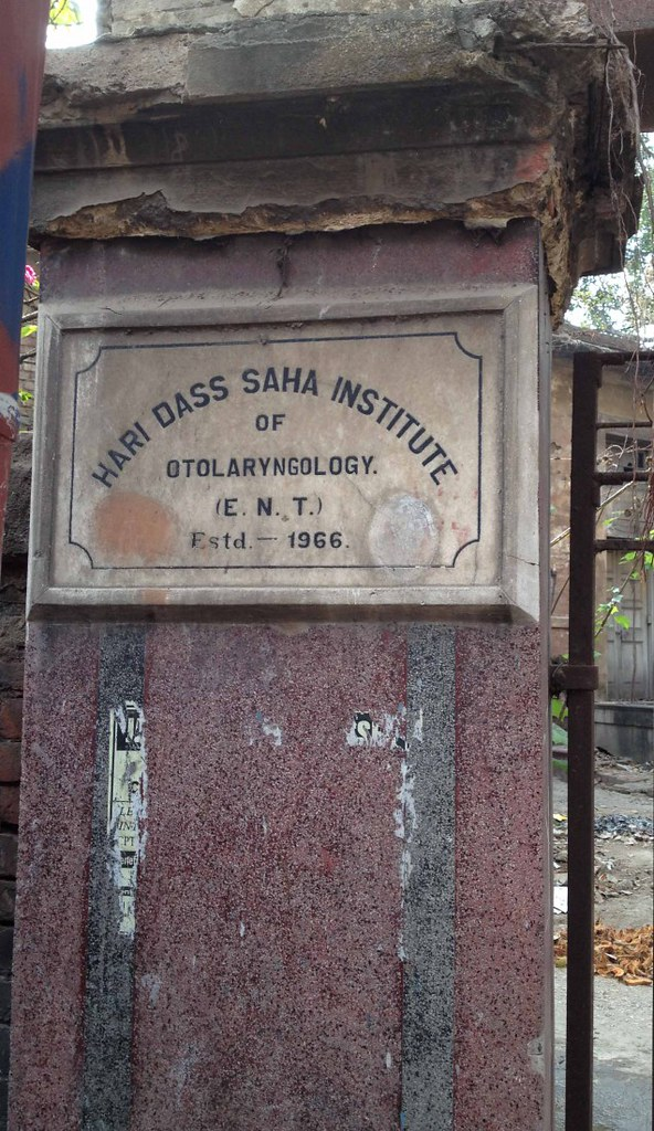 Mable Tablet outside of Mayo Hospital or Hari Dass Saha Institute - Kolkata, India