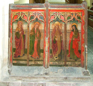rood screen (north): St Mary Magdalene, St Dorothy, St Margaret, St Scholastica