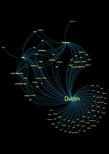 Flights operated by Ryanair from Ireland