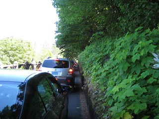 Traffic jam at Multnomah Falls