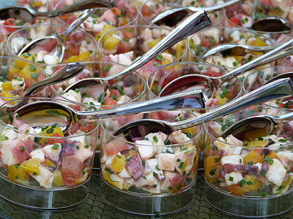 salades de poulpe