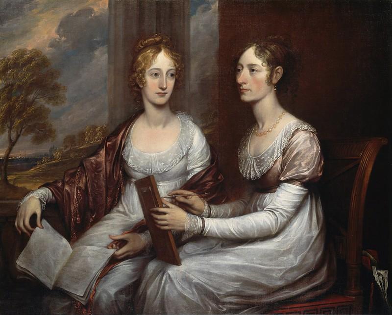 John Trumbull - The Misses Mary and Hannah Murray (1806)