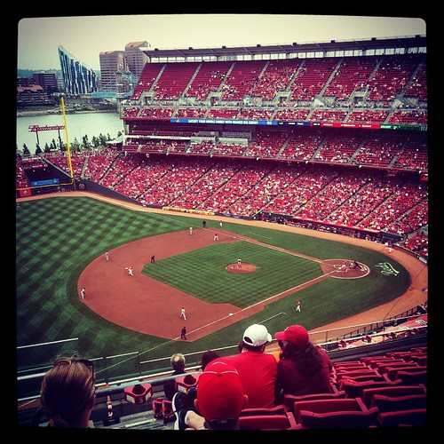#Reds game number 13 of the season was a chilly one. #ATOBOTR, and so does a 3-game sweep of the Nationals!