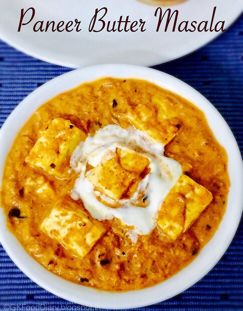 Paneer Butter Masala Recipe - With Step by Pics- Restaurant Style