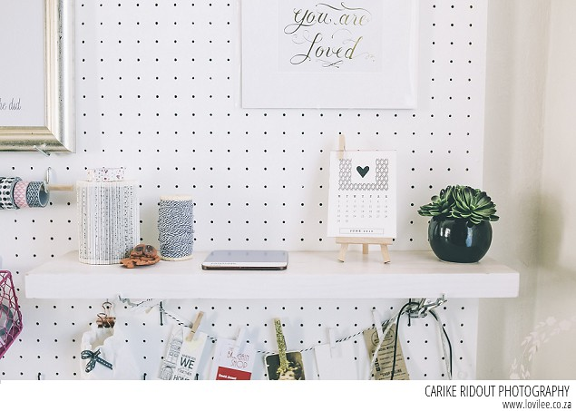 home office decor ideas - diy pegboard for home office