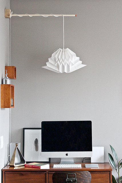 Cloud Origami Lampshade from NANA ZOOLAN - White