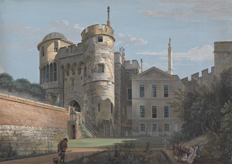 Paul Sandby - The Norman Gate and Deputy Governor's House (c.1765)