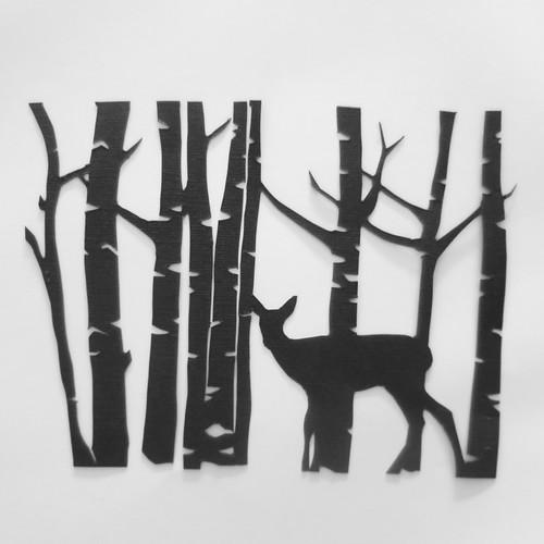Iron Craft '15 Challenge #11 - Deer and Birch Papercut