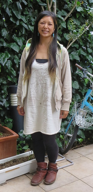 06-09-15-Japan-Shibuya-Orie Ishii in her remade LOTE t-shirt