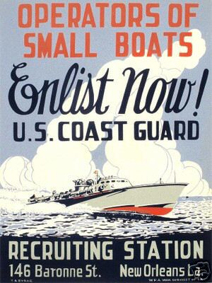 World War II Poster - U.S. Coast Guard