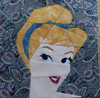Cinderella. Paper pieced. Fandom in Stitches.