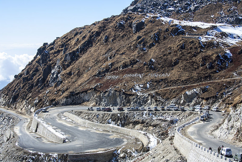 Nathu La Pass - Layered Road