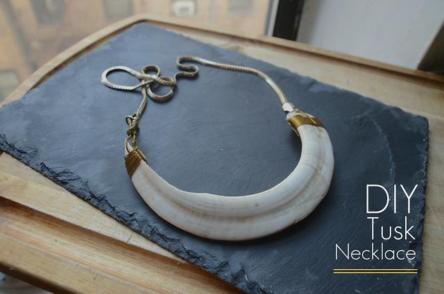 DIY Tusk Necklace